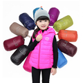 Children Clothing Winter Outerwear&Coats Candy colors Princess Girls Vest Hooded Kids Jackets Baby Girl Warm Waistcoat