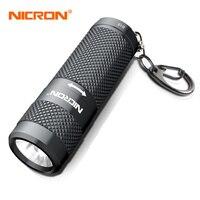 NICRON Мини светодиодный фонарик для ключей водонепроницаемый 400LM двойное топливо 16340 или CR123A аккумулятор светодиодный фонарик освещение для ...