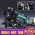 LEPIN 21005 1085pcs Technic Series Emerald Night Train Model Building Kit Blocks Bricks Toys 10194 Christmas Gift