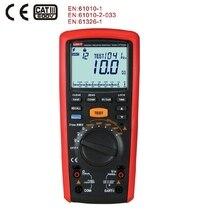 1000 в цифровой Ручной Измеритель сопротивления изоляции, измеритель сопротивления изоляции, Омметр, вольтметр, UNI T, UT505A