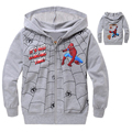 New 2016 Spider Man Hoodies Zipper Jacket Cartoon Children Clothing Spiderman baby boy Clothes Kids Long Sleeve Toddler boys