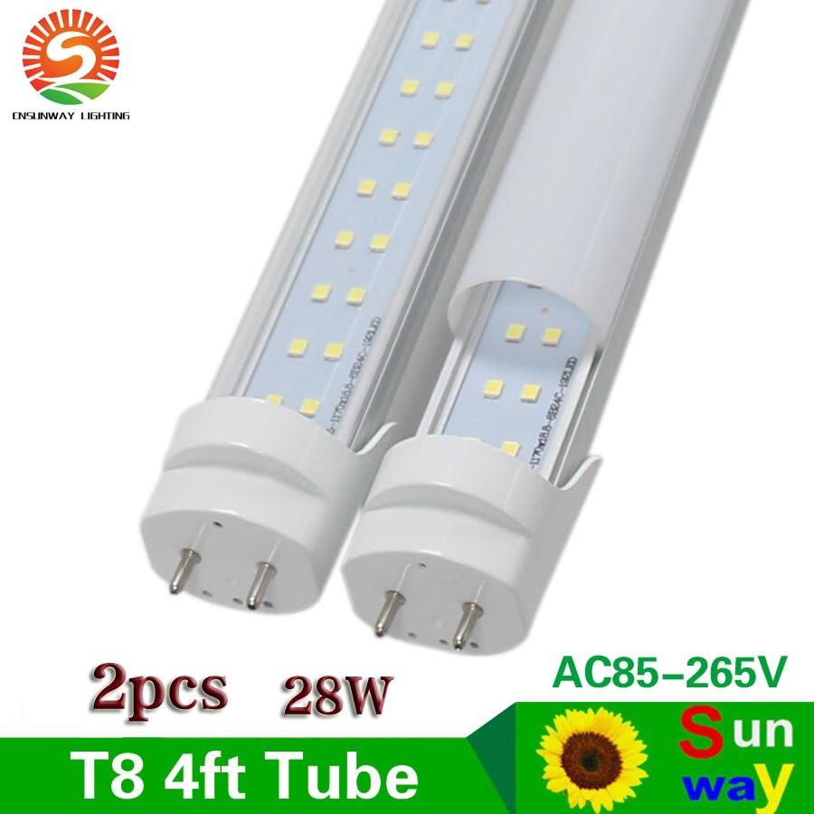 Sunway Lighting 4 ft LED Tube Light T8 28W 1200mm 4ft Led Tube Light AC85 265V G13 SMD2835 Led lights Super Bright 2800lm
