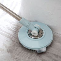 Best Selling Floor Scrub Brush with Extractable Steel Handle Spin Scrubber for Bathroom Kitchen Tile Long Reach Cleaning Tool