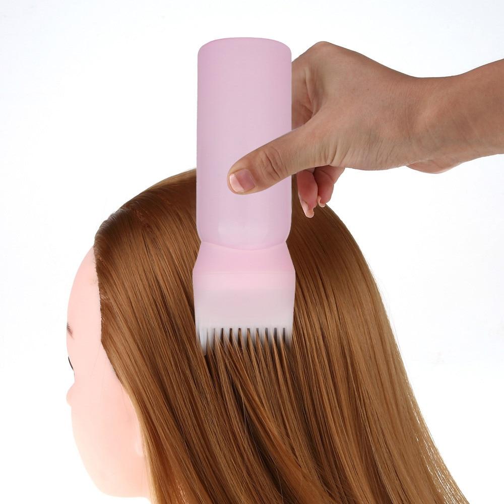 Hot Hair Dye Bottle Applicator Brush Dispensing Salon Hair Coloring Dyeing Empty Hair Dye Bottle With Applicator Brush Dropship
