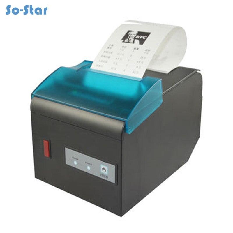 Imprimante de reçu de cuisine 80mm étanche à l'huile haute vitesse impression Ethernet POS imprimante de reçu thermique murale