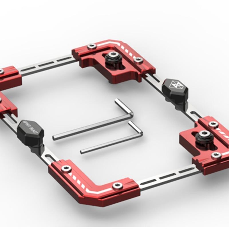 Moto rouge individualité plaque d'immatriculation cadre télescopique Scooter plaque accessoires moto