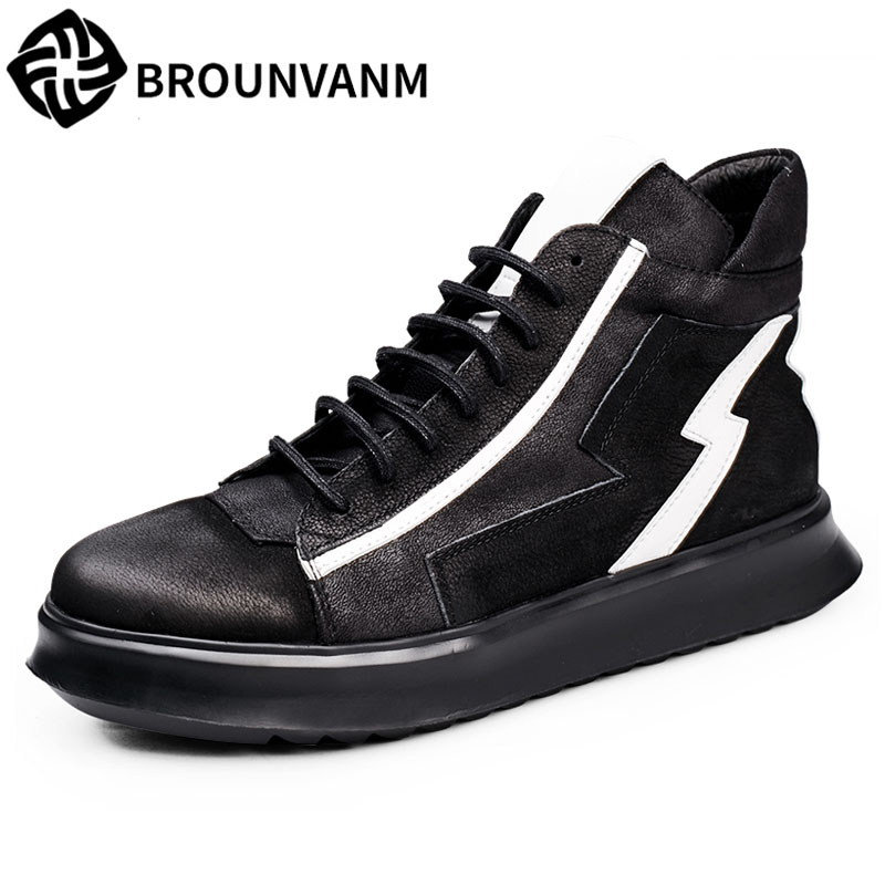 Hip-hop high shoes male street, European, casual boots new autumn winter British retrobreathable sneaker cowhide Leisure boots 2016 new autumn winter man casual shoes sport male leisure chaussure laced up basket shoes for adults black
