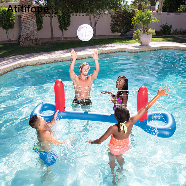 US $15.12 36% OFF|Plastic Splice Inflatable Fun Buoyancy water volleyball  swimming pool accessories child toys-in Accessories from Mother & Kids on  ...