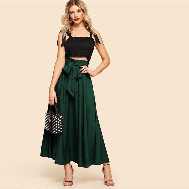 Maxi falda vintage verde 2