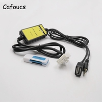 Cafoucs For Mazda Aux Usb MP3 Adapter Car Music CD Audio Media Changer Charger Digital Box