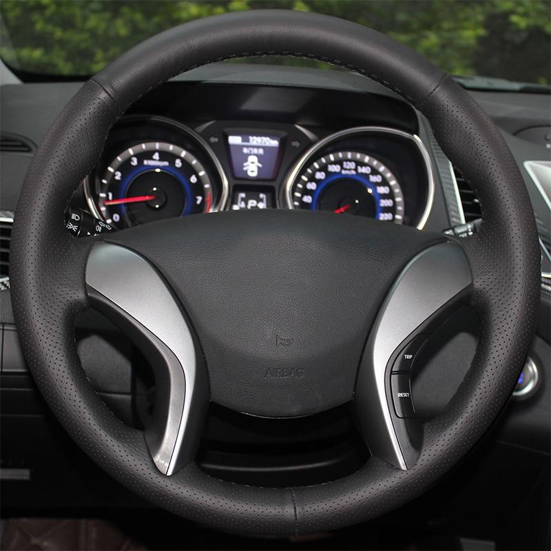 AOSRRUN Былғары Hyundai Elantra 2011-2016 Avante i30 2012-2016 - Автокөліктің ішкі керек-жарақтары - фото 2