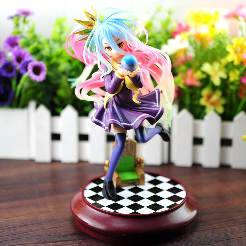 No Game No Life Imanity Shiro 1/7 Scale Painted Figure Collectible Model Toy 22cm KT1823 no game no life shiro swimming suit ver 1 7 scale pre painted sexy pvc action figure collectible model toy doll