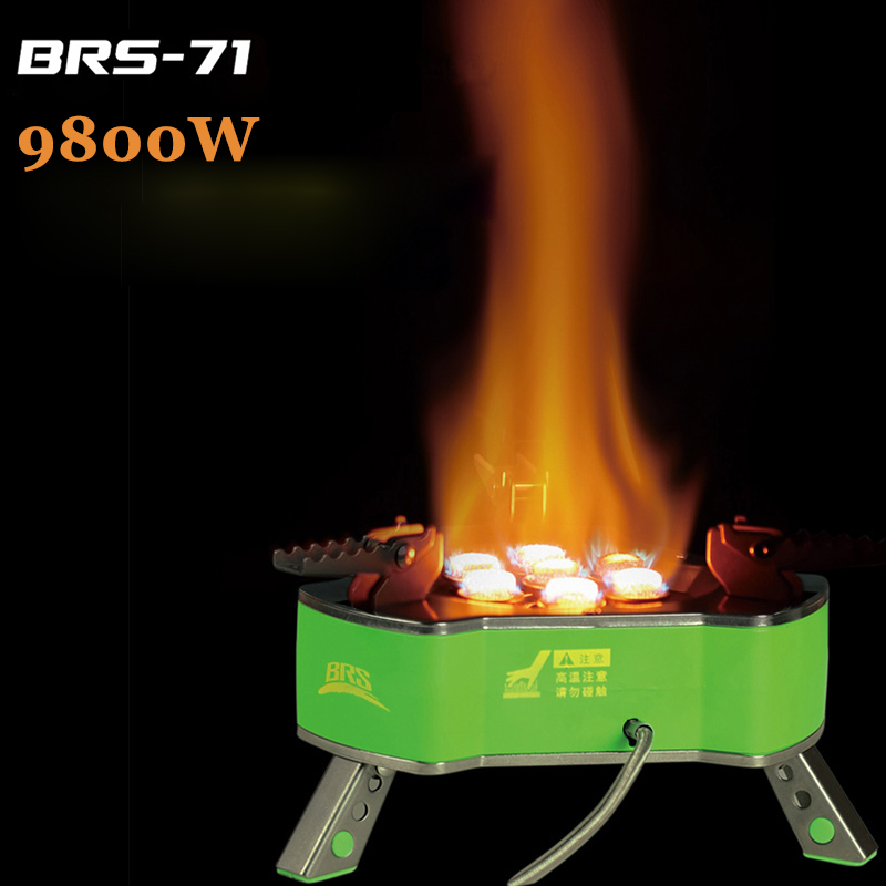 BRS-71 Portable Camping Stove Powerful Gas Stove Windproof Outdoor Cooking System 9800W Picnic Stoves LPG Butane Gas Burner mini portable butane stove for outdoor travel camping picnic silver black page 2 page 4