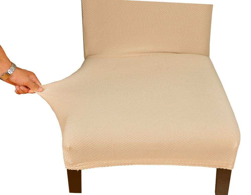 Decoración comedor Spandex Knit Jacquard tela silla teñido fundas ...