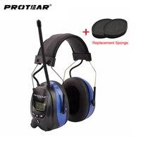 Protear NRR 25dB Hearing Protector AM FM Radio Earmuffs Electronic Ear Protection Shooting Earmuffs Radio Hearing