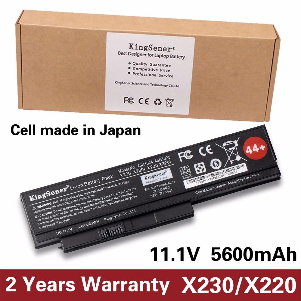 KingSener Japanese Cell 45N1025 Laptop Battery For Lenovo Thinkpad X230 X230i X220 X220I X220S 45N1024 45N1022 45N1029 45N1033 new for ibm lenovo thinkpad x220 x230 bottom case base cover 04y2088 04y2090 04w2239