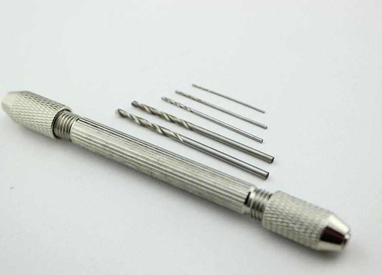 1Set Core Drill Bit Hand Tool + 1Drill Bits 0.6 0.8 1.0 1.8 2.0 Walnut Amber Olive Beeswax Drilling Hole