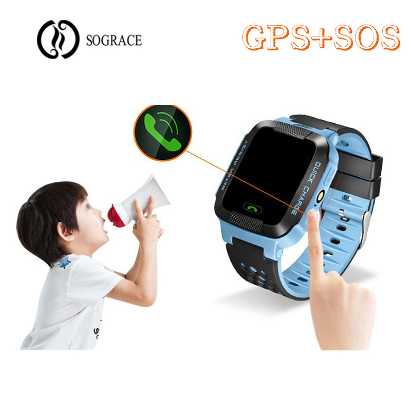 SOS GPS Children Smart Watches Phone Call Relogio 2G GSM SIM TF Card Camera Kids Watches Girls Boys Best Gift for Children Watch