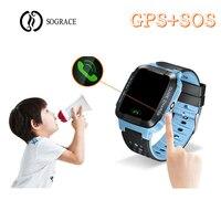 SOS GPS Children Smart Watches Phone Call Relogio 2G GSM SIM TF Card Camera Kids Watches Girls Boys Best Gift for Children Watch