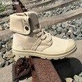 2016 de Invierno Nueva Moda Para Hombre de Alta Superior Zapatos de Lona Ocasionales militar Botines para Hombres Chaussure Homme J247 Sexy Tobillo botas