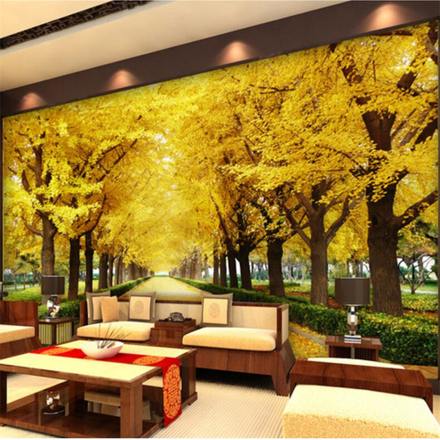 beibehang Custom Photo Wallpaper 3D Stereo Murals Gold Full House Gold Tree  Money Tree 3D Living