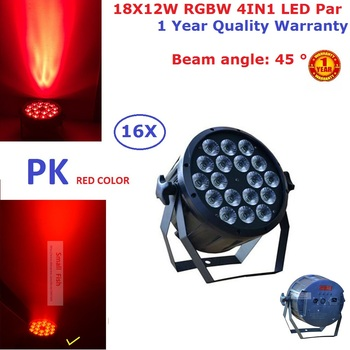 16XLot Plastic Shell 18X12W RGBW LED Par Light DMX Stage Lights Business Lights Professional Flat Par Can For Par KTV Disco Lamp