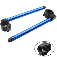 52MM FXCNC CNC Universal Motorcycles Adjustable Clip On Ons Handle Bar Fork 7 8 22mm Bar