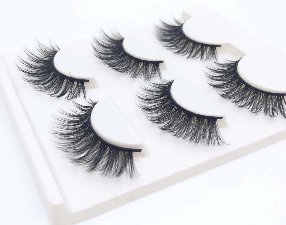 50 boxes 150 pairs Sexy 100 Handmade 3D mink hair Beauty Thick Long False Mink Eyelashes