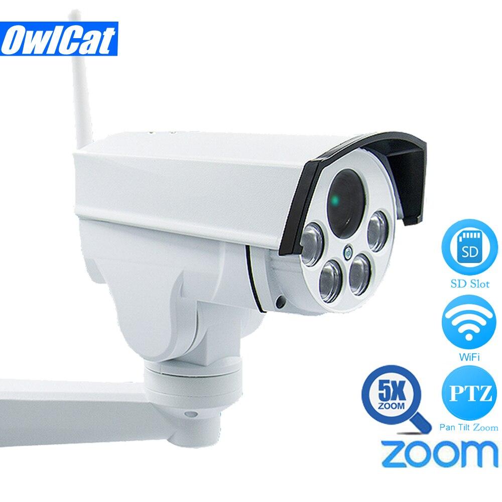 HD 1080P Mini Bullet PTZ IP Camera Wifi Outdoor Waterproof 5X Zoom Auto Focus 2MP Wireless IR Onvif SD Card Security CCTV Camera цена
