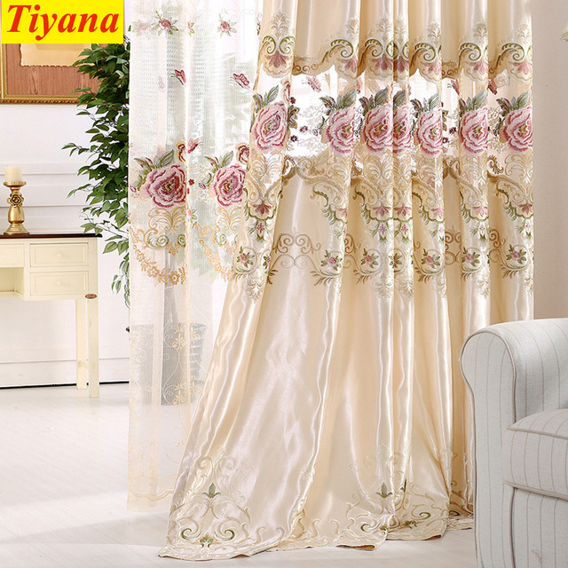 living room fancy curtains exotic rooms modern rich embroidery luxury curtain for bedroom night rideau voilage window drapes 30