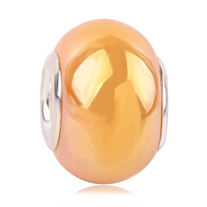 Dodocharms encanto europeo nuevo Original de 13 colores cuentas de vidrio adecuado para la joyería de la pulsera de Pandora DIY