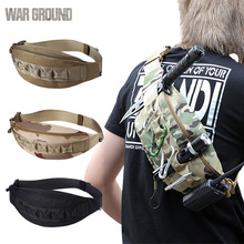 Molle military tactical pockets outdoor fishing hunting bag sports running mobile phone hiking belt