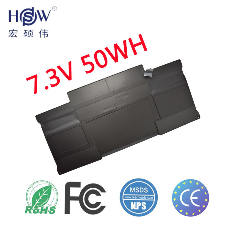 HSW Laptop Battery for APPLE MacBook Air Core i5 1.6 13 (A1369 Mid 2011) A1405 A1466 battery for laptop 2012 battery