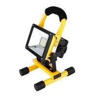 Waterproof 1000lm Rechargeable Flood Light Portable Outdoor Emergenency Light Garage Lamp Construction Site Spotlight