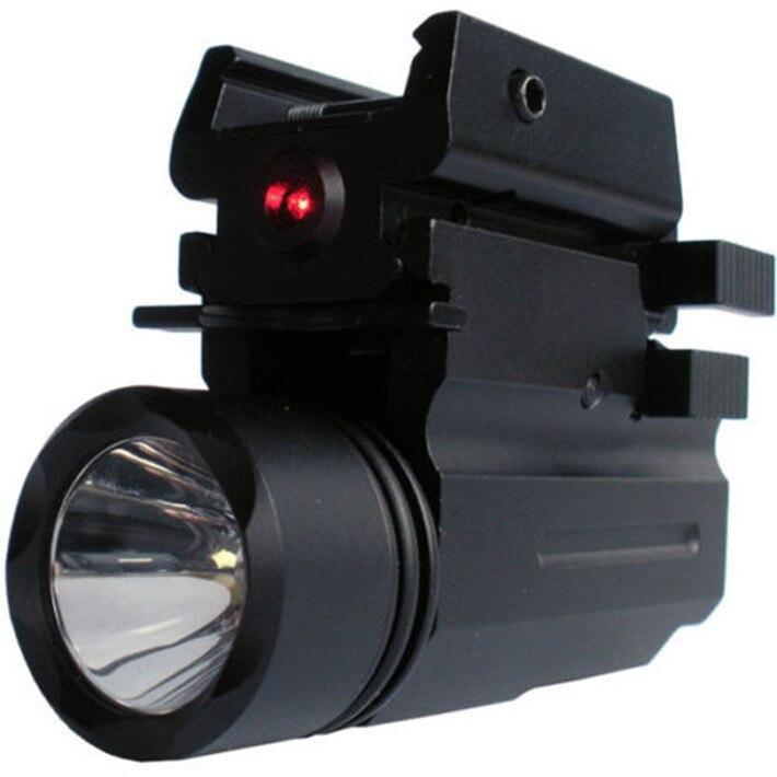 Red dot mira laser tático lanterna led