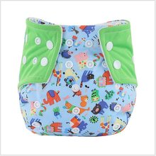 Baby Washable Reusable Real Cloth Pocket Nappy Diaper Cover Wrap suits Birth to Potty One Size Nappy Inserts(China)