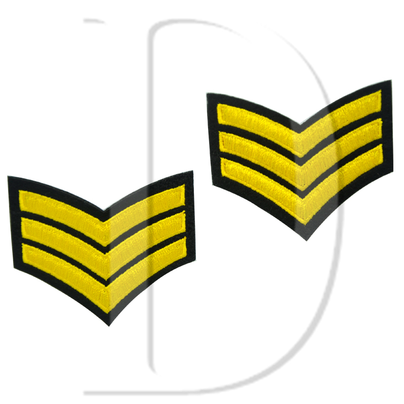 1 Pcs Military Rank Parches Embroidered Iron On Patches For