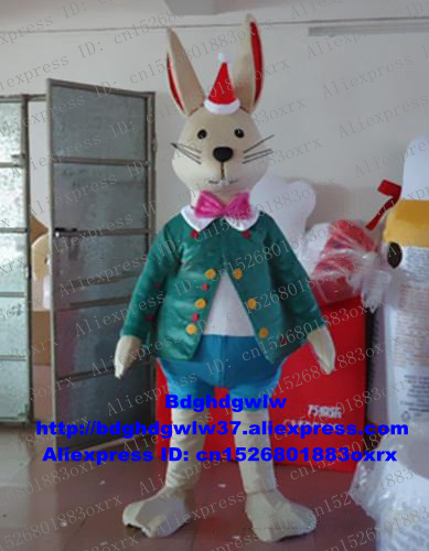 Candid Christmas Male Bunny Osterhase Rabbit Hare Mascot Costume Adult Cartoon Character Stage Properties All Saints Day Zx832