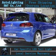 Стайлинга автомобилей Для VW Golf 6 задние фонари 2009-2012 для Vw Golf6 led фонарь R20 задний фонарь крышка drl + сигнал + тормозная + обратный
