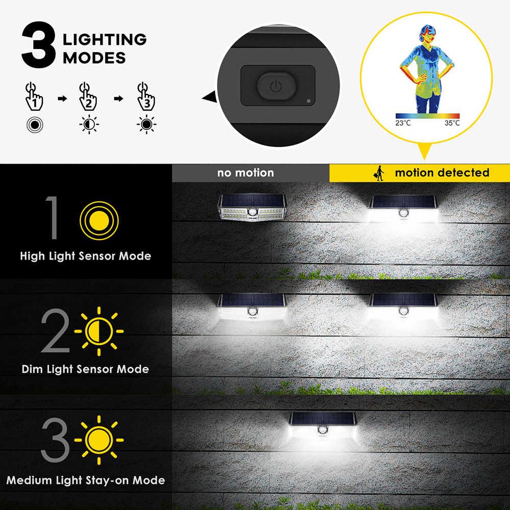 Mpow CD174 3 Регулируемый свет модель 60 Вт 66 светодиодный Яркий солнечных батареях Наружное освещение IP66 Водонепроницаемый для шланг для полива огорода, двора, патио гараж