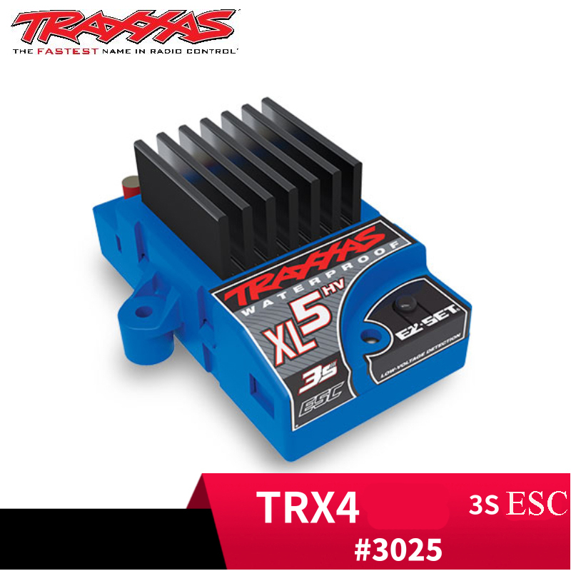 3S ESC Waterproof Electric Speed Controller Regulator Monitor #3025 with Low Voltage Detection for Traxxas XL-5HV TRX4 Defender3S ESC Waterproof Electric Speed Controller Regulator Monitor #3025 with Low Voltage Detection for Traxxas XL-5HV TRX4 Defender