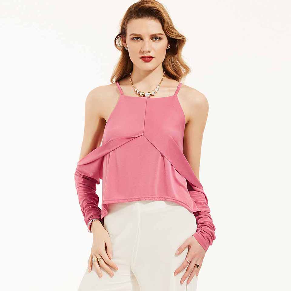 2018 Autumn New Lady Black Dress Long Sleeve Bow Lace Up A Line Blouse Off Shoulder Wanita Charming Pink Fuchsia S Young17 Women Summer Casual White Red Hollow Plain Slim Sexy Fashion Tops