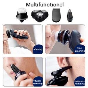 Image 2 - TINTON hayat erkek 4D elektrikli tıraş makinesi 4 IN 1 sakal düzeltici şarj edilebilir erkekler jileti tıraş makinesi yüz bakımı elektrikli tıraş makinesi