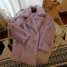 2018 New Style High-end Fashion Women Faux Fur Coat S61
