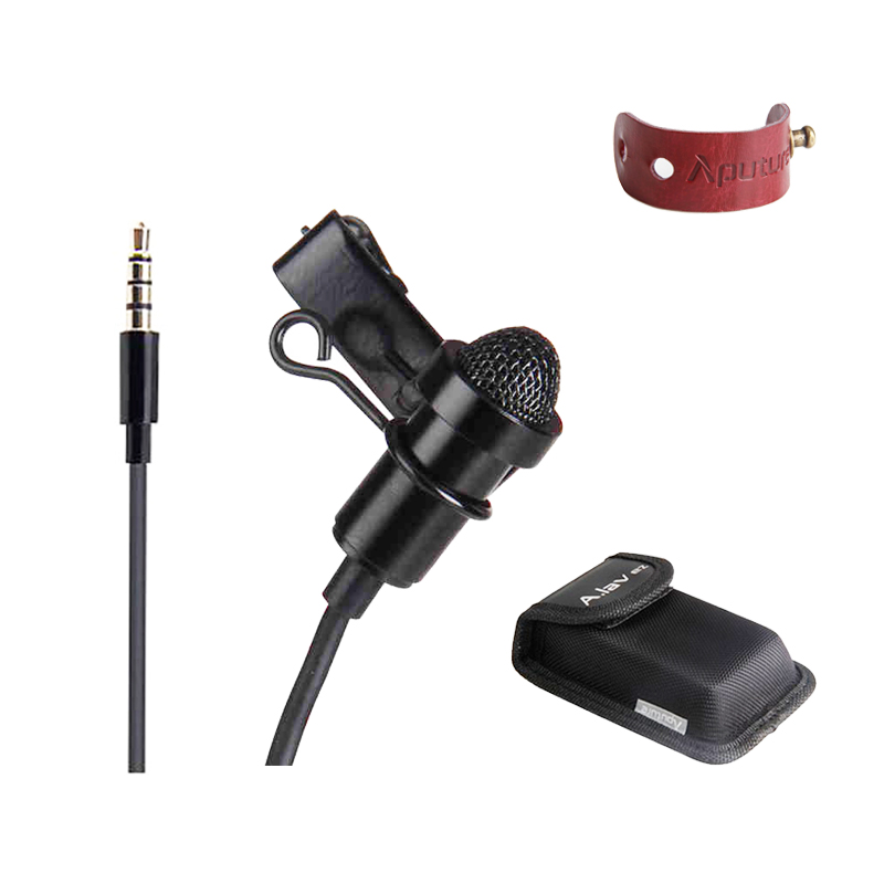 Aputure A lav ez Omnidirectional Lavalier Condenser Microphone with Wind Shield Windscreen 10ft Kevlar Reinforced Cable