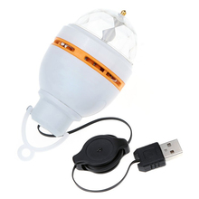CNIM Hot 3W LED Portable Stage DJ Light Auto Rotating Bulb with USB Interface -Orange
