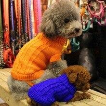 New Winter Warm Pet Clothes Dog Cat Sweater KNIT Jumper Hoody Pet Puppy Coat Jacket Winter Warm Clothes 1PCS