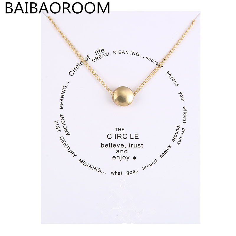 Fashion Jewelry Reminder The Circle Boxed Necklace For Women