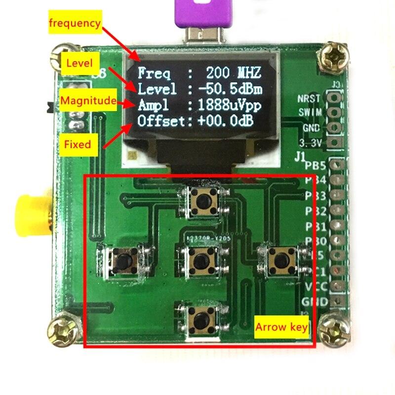OLED 8 ghz 1-8000 mhz RF Power Meter-55 TO-5 dBm + Sofware de Atenuação de RF valor # Sep.08