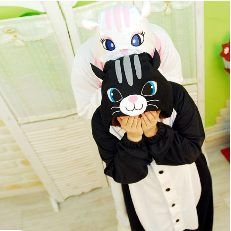Animal Cat   Pajama     Sets   Women Winter Indoor Cartoon One-Piece Onesies Adult Long Sleeve Anime Sleepwear Kigurumi Pijamas